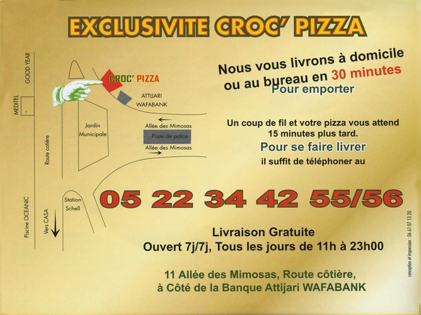 croc-pizza à casablanca